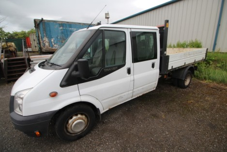 2012 Ford Transit crew cab tipper 70k miles £5700.