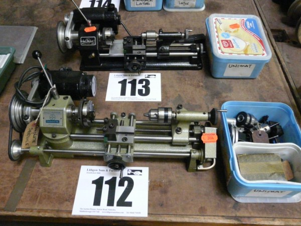 Elliot Unimat-SL Model Makers Lathe Sold £180 and Emco Unimat Watch Makers Lathe Sold £140