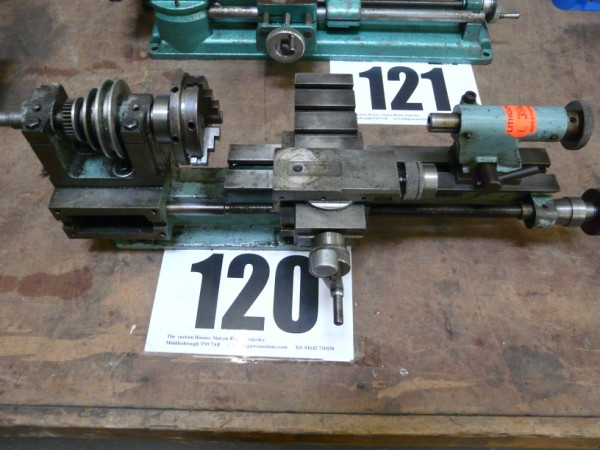 Miniature Pulley Driven Lathe Sold £52 and EME Unimat Lathe Sold £75