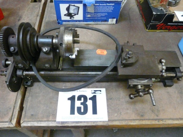 J F Stringer Pulley Driven Watch Maker's Lathe Sold £70