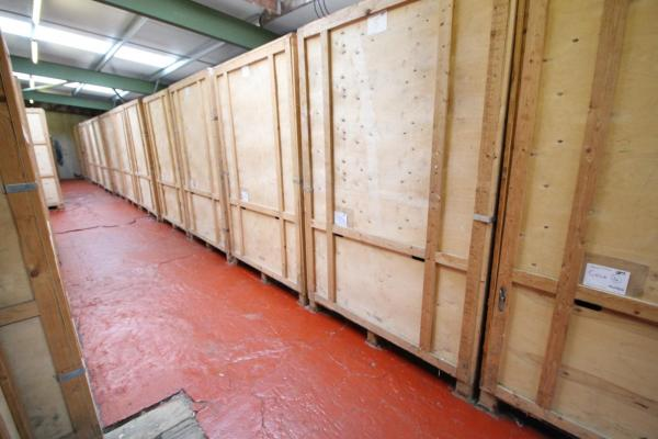 Timber self storage boxes in our storage facility, for more information go to www.stokesleyselfstorage.co.uk